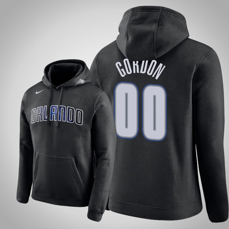 felpa Orlando Magic 2018-19 aaron Gordon club nero uomo