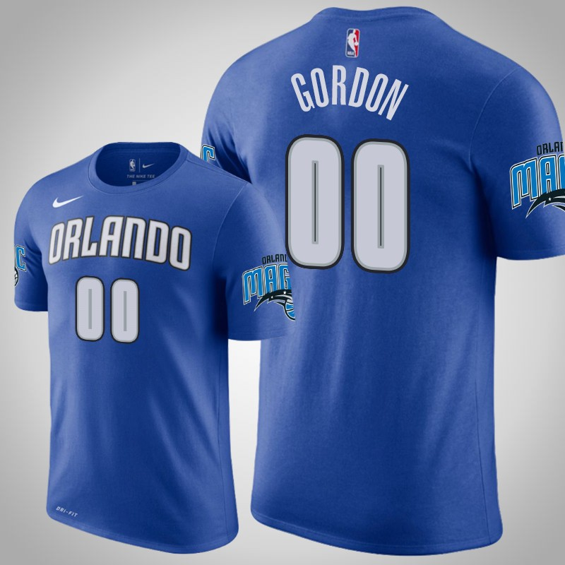 maglietta Orlando Magic 2018-19 aaron Gordon 0 blu uomo