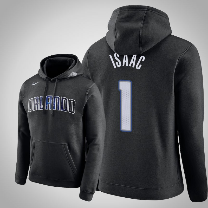 felpa Orlando Magic 2019-20 Jonathan Isaac 1 club nero uomo
