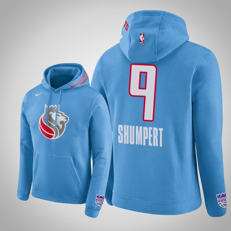 felpa Sacramento Kings 2018-19 Iman Shumpert club blu uomo