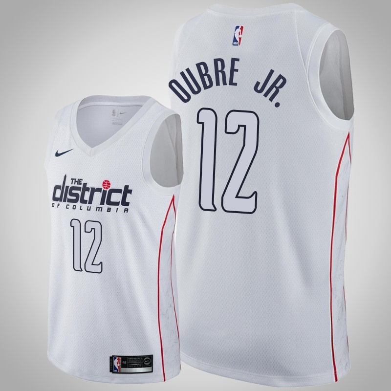 Maglie Washington Wizards 2019-2020 Kelly Oubre Jr. 12 città bianca uomo